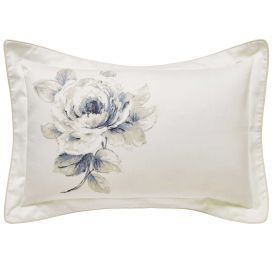 Rosa Oxford Pillowcase, Indigo
