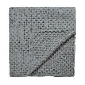Chiswick Glove Silver Knitted Throw