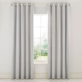 """Chiswick Grove Lined Curtains 66"""" x 90"""", Silver"""