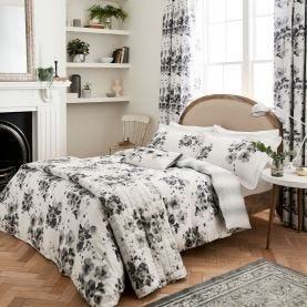 Mandarin Flowers Bedding Grey by Sanderson