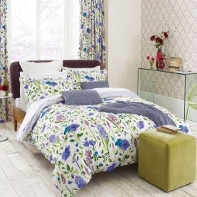 Spring Flowers Blue Bedding