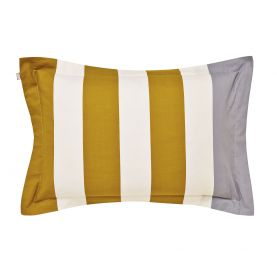 Lace stripe Yellow & Grey Oxford Pillowcase