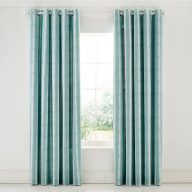 """Akira Lined Curtains 66"""" x 72"""", Teal"""