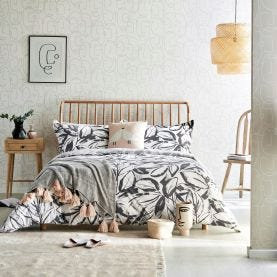 Padu Charcoal Grey & Ivory Bedding