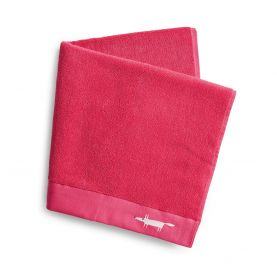 Mr Fox Embroidered Towels Crocus Pink