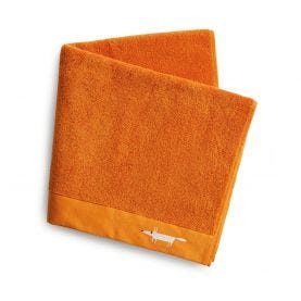 Mr Fox Embroidered Towels Mandarin