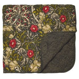 William Morris Seaweed Quilted Throw