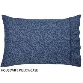 Strawberry Thief Housewife Indigo Pillowcase
