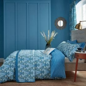 Alyssum Elegant Blue Print Bedding