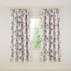 V&A Sweet Geranium Lined Multi Curtains