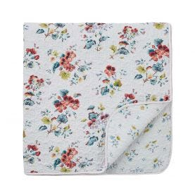 V&A Sweet Geranium Multi Quilted Throw