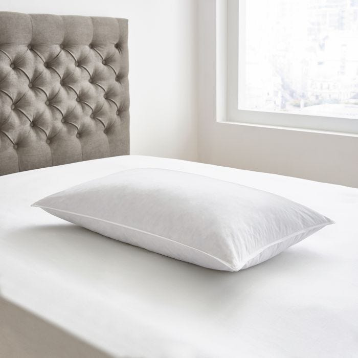 Bedeck Luxury Duck Feather Pillow White