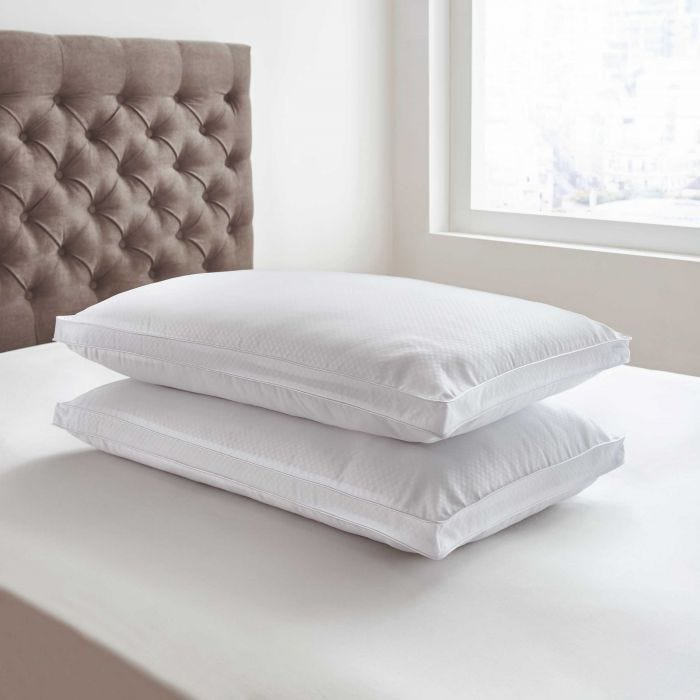 Platinum Collection Microcheck Pair of Pillows