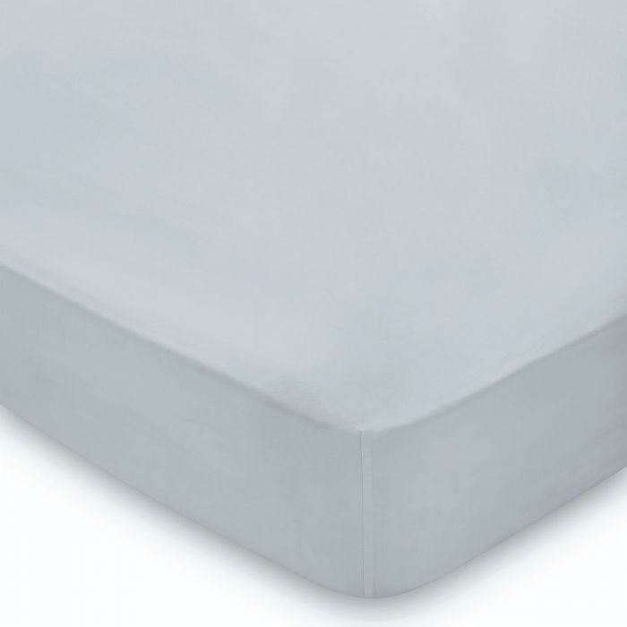 300 Thread Count Blue Mist Fitted Sheet