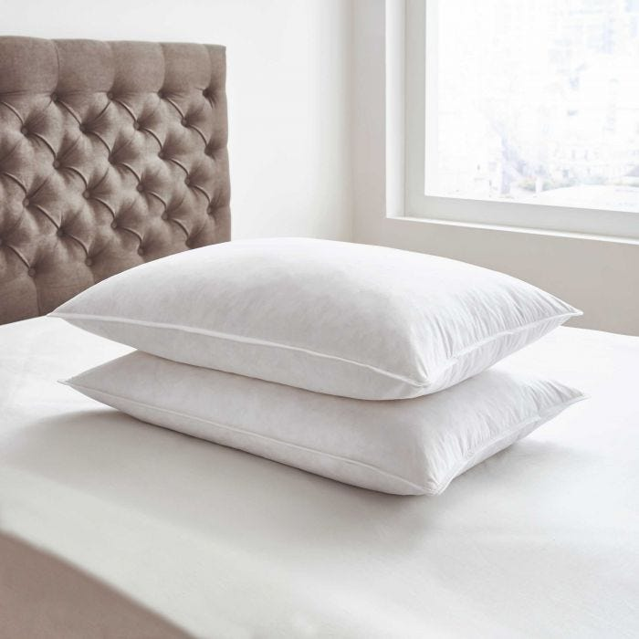 Goose Feather & Down Pair of Pillows