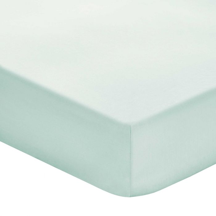 Plain Aqua Double Fitted Sheets
