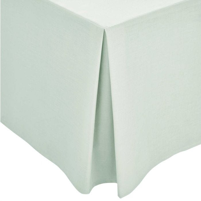 Aqua Plain Dye Base Valance (Kingsize)