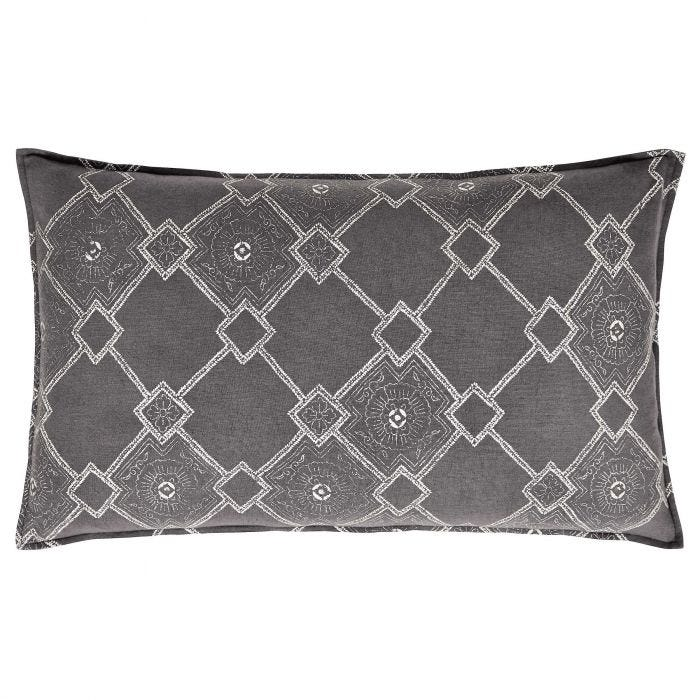 Batik Cushion, Grey