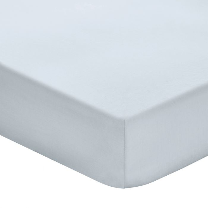 Soft Blue Fitted Sheet