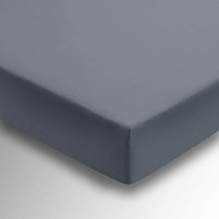 50/50 Plain Dye Percale Fitted Sheet Charcoal