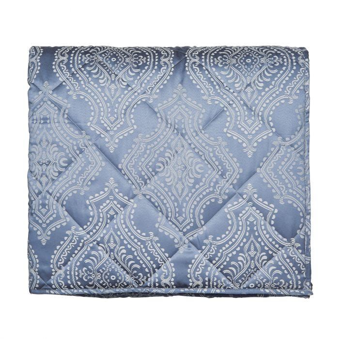 Arossa Soft Blue Quilted Throw