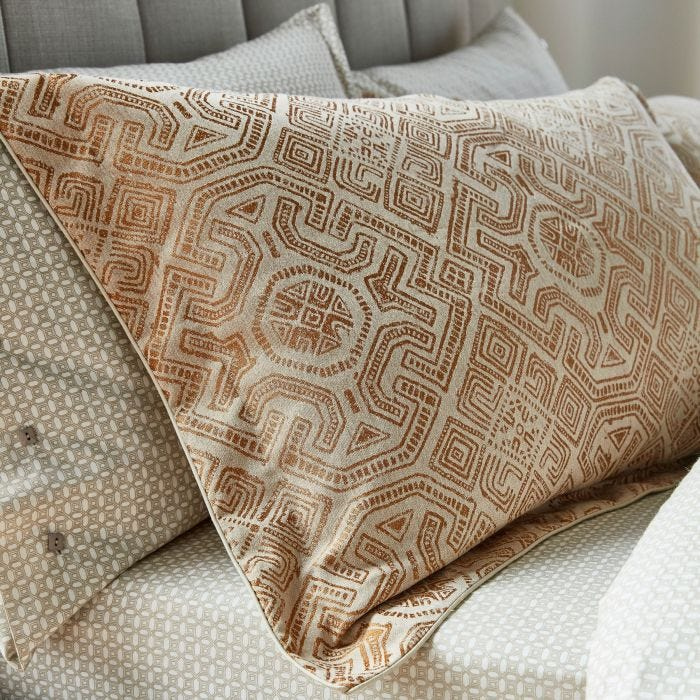 Agra Deep Fitted Sheets, Copper