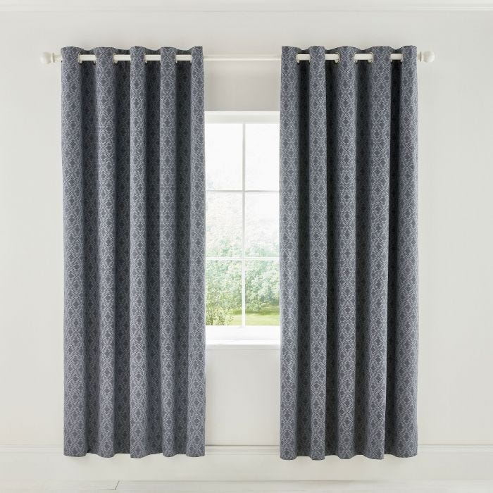 Cadenza Grey Lined Curtains