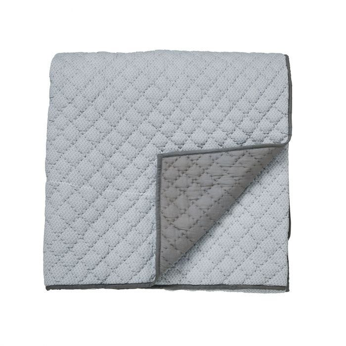 Cadenza Grey Quilted Throw