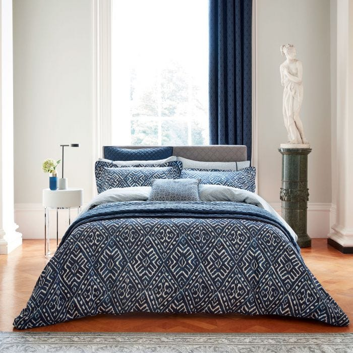 Cadenza Indigo  Patterned Bedding