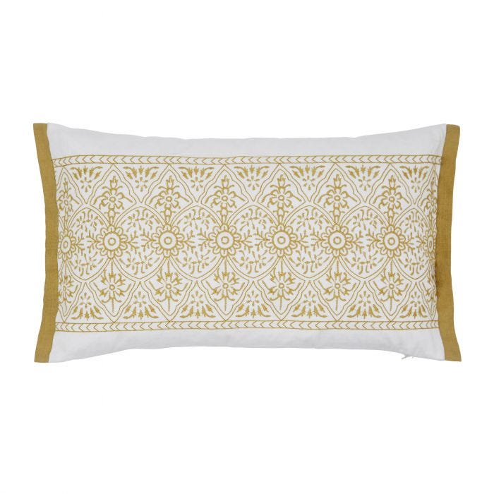 Satara Grey & Chartreuse Cushion Front