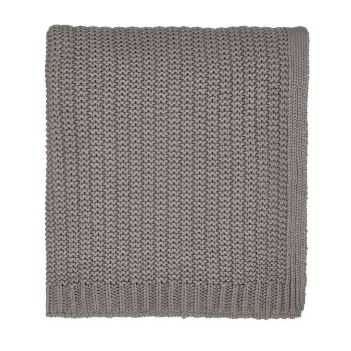 Satara Grey & Chartreuse Knitted Throw