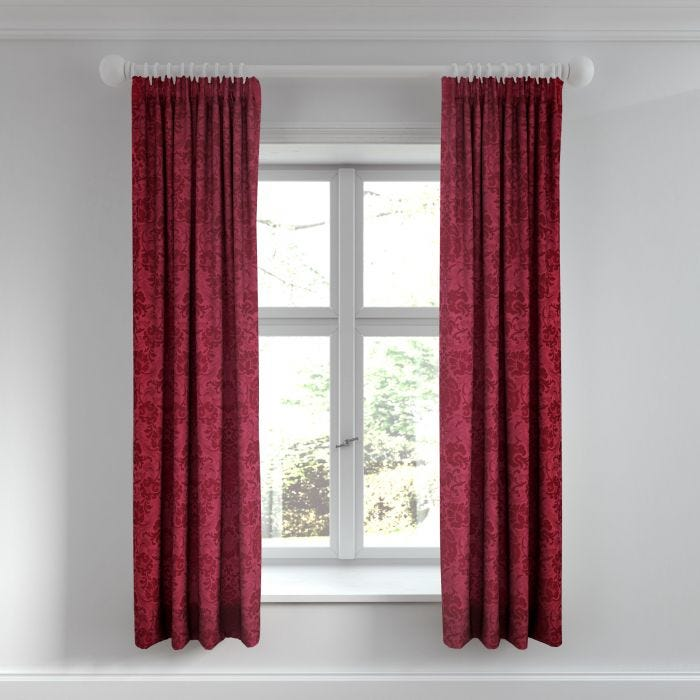 Alexa Scarlet Lined Curtains