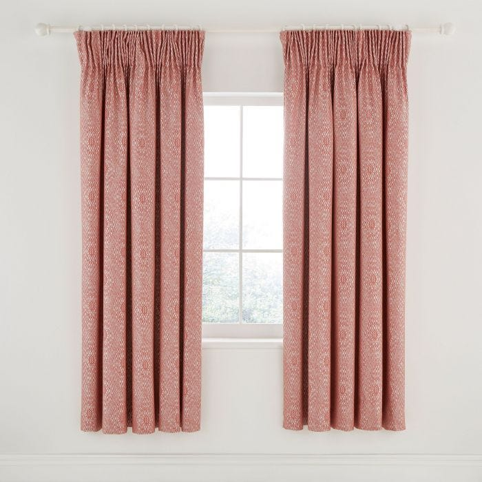 Adena Lined Curtains Rust