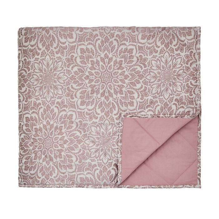 Zahra Rose Quilted Throw