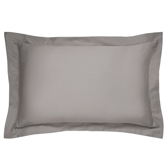 Bedeck 400 Thread Count, Oxford Pillowcase, Charcoal