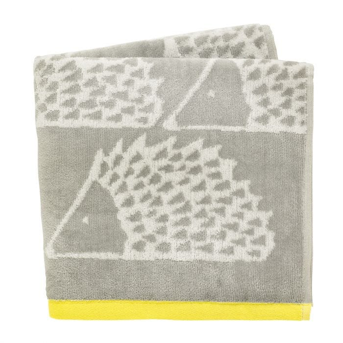 Spike Hand Towels in Grey & Citrus