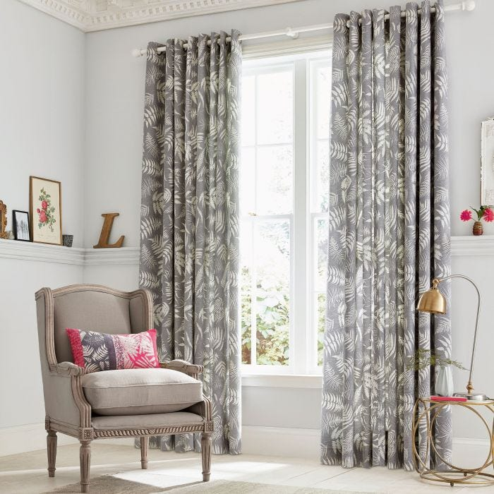 Espinillo Grey Lined Curtains