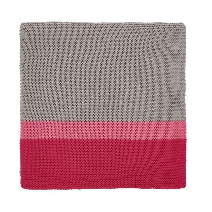 Espinillo Hot Pink Knitted Throw