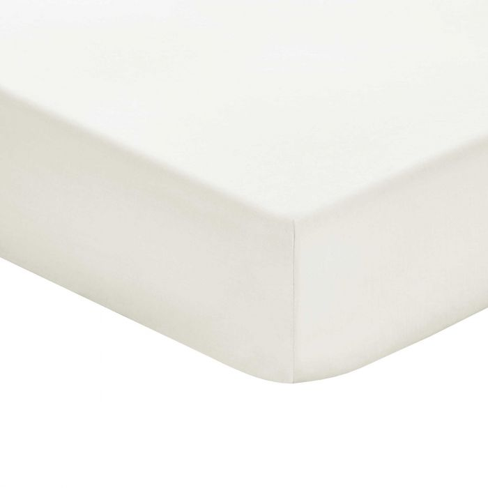 Plain Cream Double Fitted Sheets