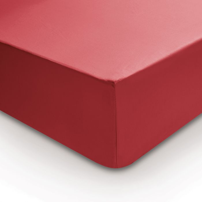 Bedeck 400 Thread Count, Double Fitted Sheet, Crimson