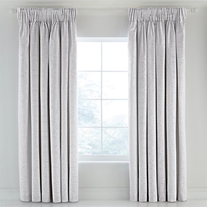 "Luxury Silver Curtains Set, 66"" x 72"""
