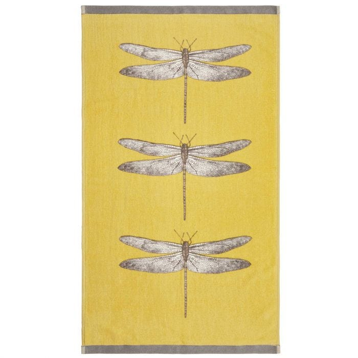Demoiselle Guest Towel, Gold and Grey