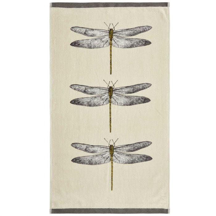 Demoiselle Guest Towel, Natural and Orange