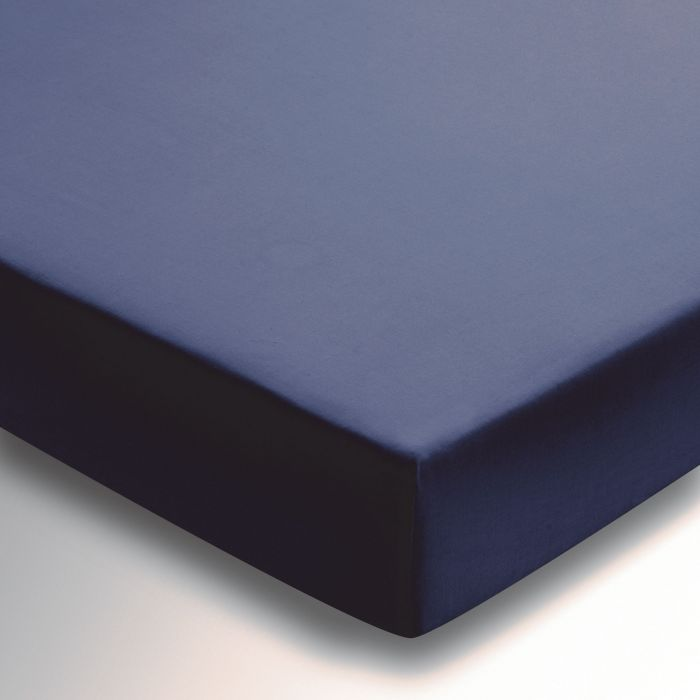 Egyptian Cotton Plain Dye Navy Fitted Sheet.