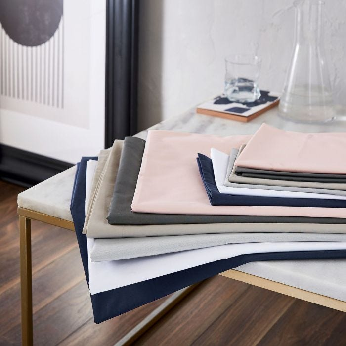 Egyptian Cotton Plain Dye Sheets.