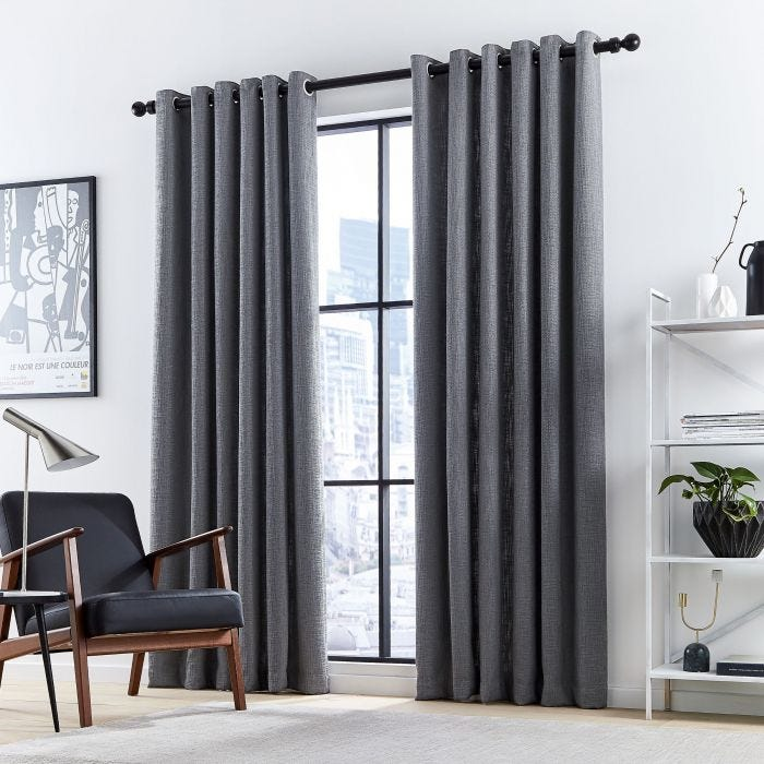 Madison Charcoal Lined Curtains