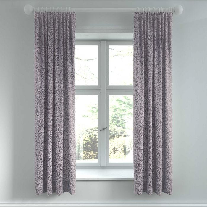 """Etta Lined Curtains, 66"""" x 72"""", Tape Top, Violet"""