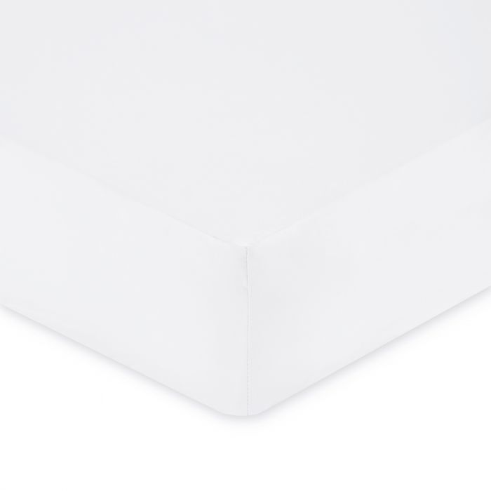 Plain Dye Double Fitted Sheet - White