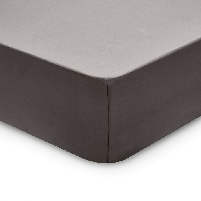 Bedeck 1951 200 Thread Count, Kingsize Fitted Sheet, Graphite