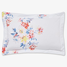 Harbour Floral Stripe Oxford Pillowcase, Grey
